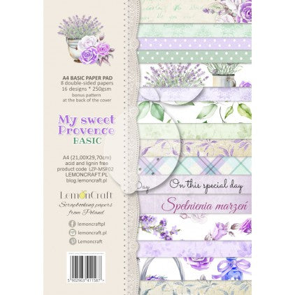 PAD SCRAP PAPERS  - LEMONCRAFT - MY SWEET PROVENCE A4