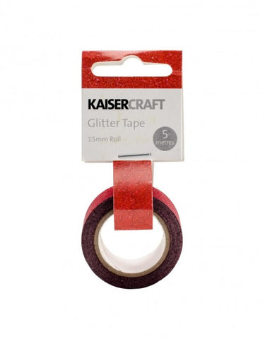 Kaisercraft Glitter Tape PT232 Red