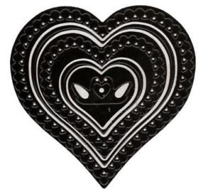 Nellie's Multi Frame Heart Lace