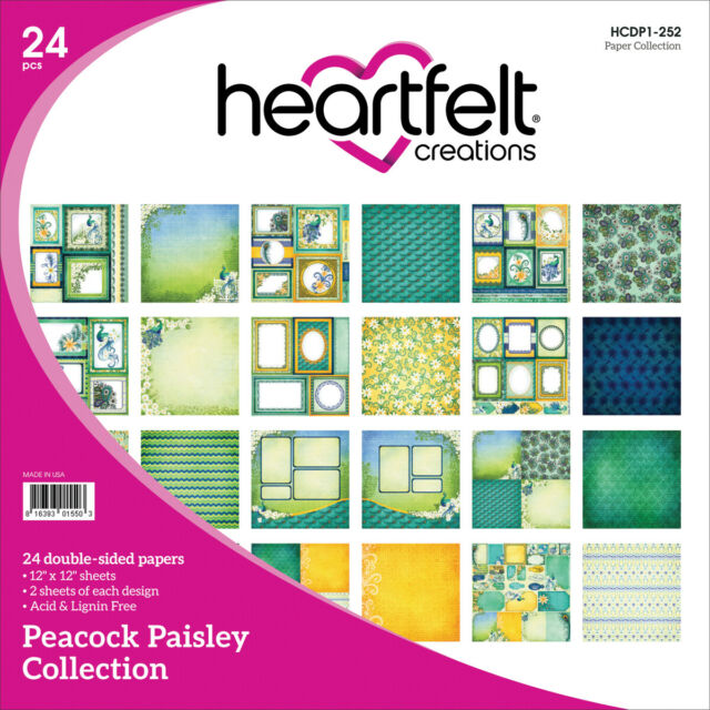 Heartfelt Creation - Peacock Paisley Paper Collection