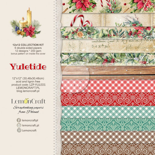 Set of Scrapbooking Paper - Yuletide