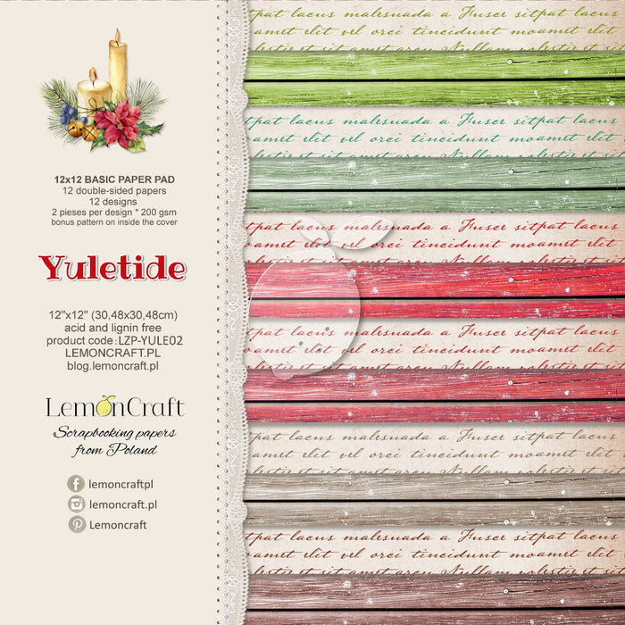 "Stack of Basic Scrapbook Papers - Yuletide Basic - 12""X12"""