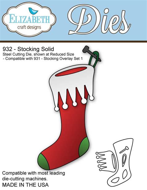 Elizabeth Craft Designs 932 Stocking Solid