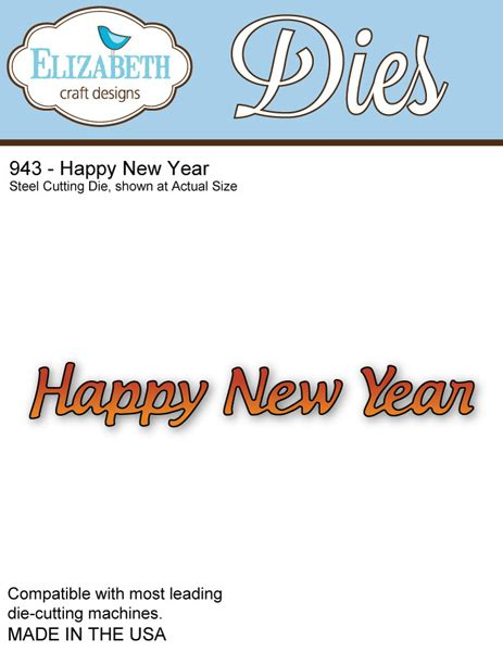 Elizabeth Craft Designs 746 Happy New Year
