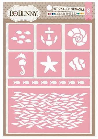 BoBunny Under The Sea Stickable Stencil