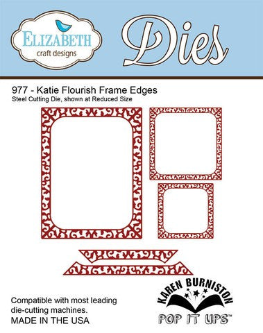 Elizabeth Craft Designs 977 Katie Flourish Frame Edges