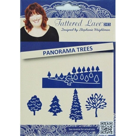 Tattered Lace Die D634 Panorama Trees