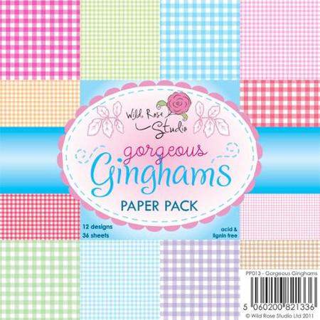 "Wild Rose Studio Gorgeous Ginghamp 6""x6"" Paper Pad"