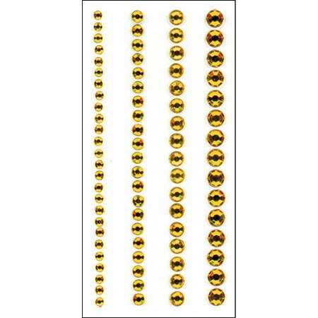 Crystal Stickers Elements 3mm To 6mm Assorted 76/Pkg Yellow