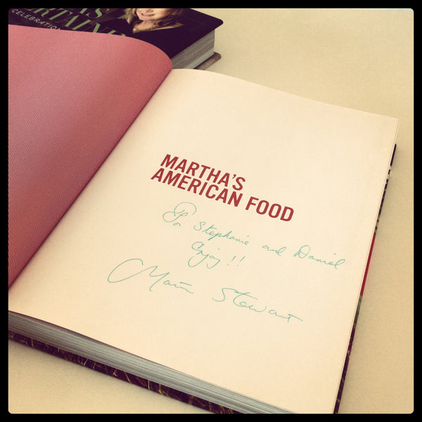 Signed copy of Martha Stewart's American Food Cook Book