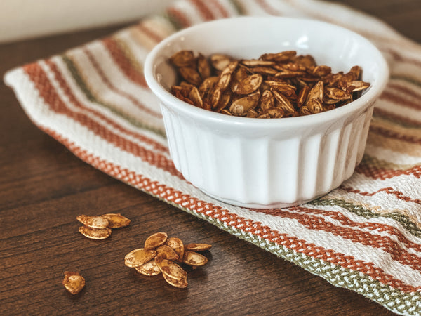 Enjoy your pumpkin seed snack!