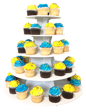 5 Tier Round 2 in 1 Cupcake Tower Display