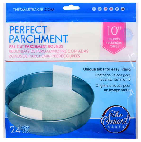 "The Smart Baker 10"" Round Perfect Parchment"