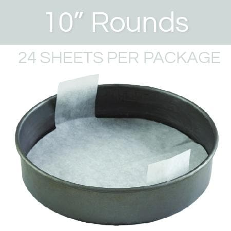 10 inch round parchment with lift tabs - 24 Pack - Icon