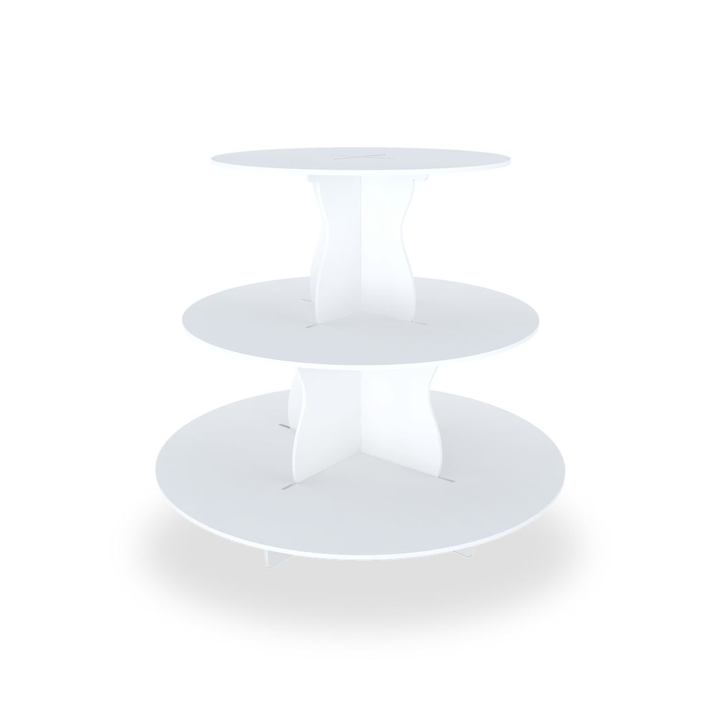 3 Tier Round Cupcake Stand without  cupcakes