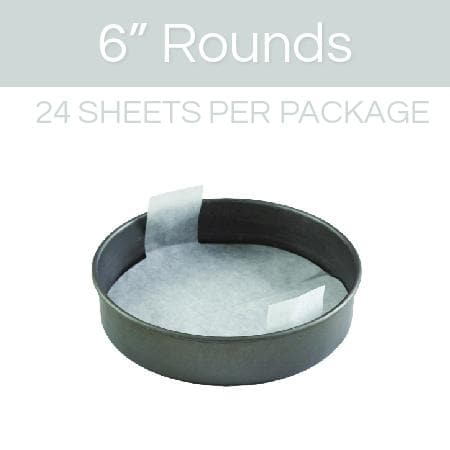 6 inch round parchment with lift tabs - 24 Pack - Icon