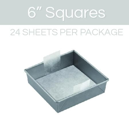 6 inch square parchment with lift tabs - 24 Pack - Icon