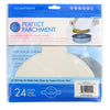 8 inch round parchment with lift tabs - 24 Pack - Package Back