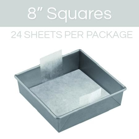 8 inch square parchment with lift tabs  - 24 Pack - Icon
