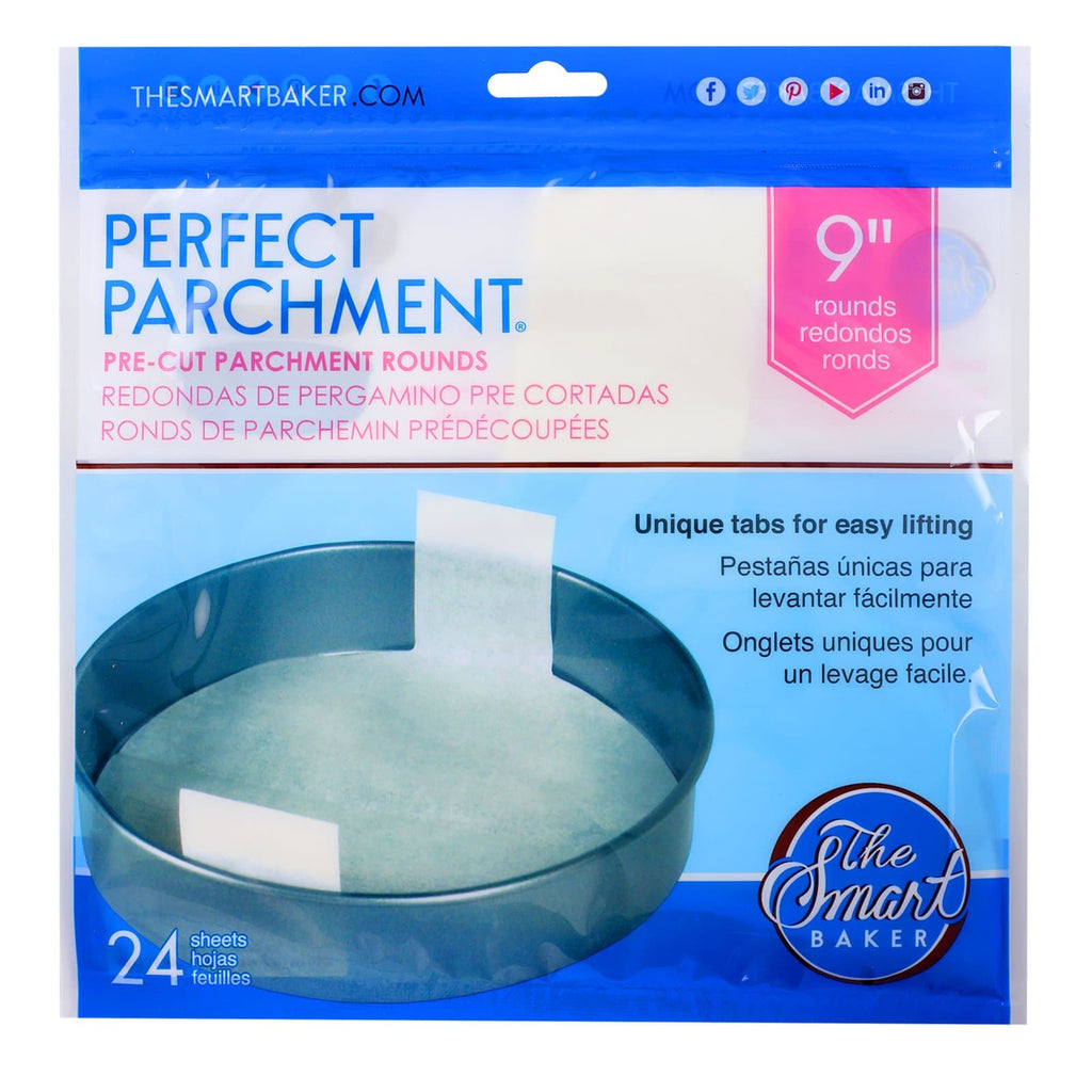 9 inch round  parchment with lift tabs - 24 Pack - Package Front
