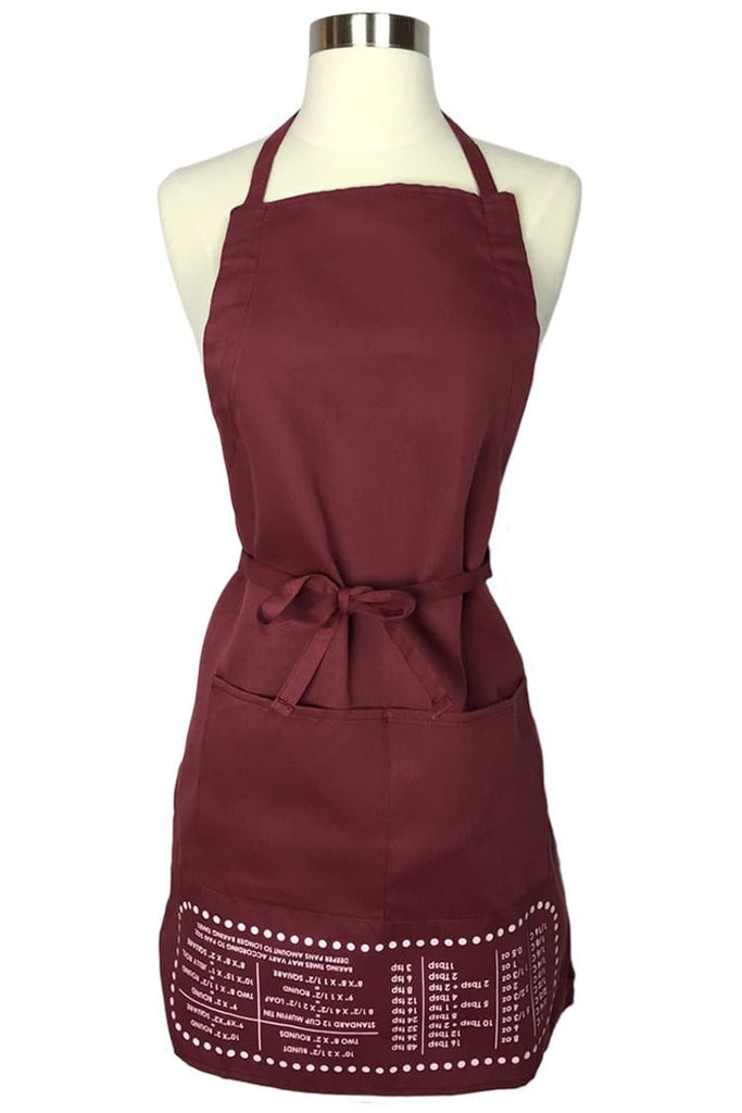 Burgundy Cheat Sheet Apron