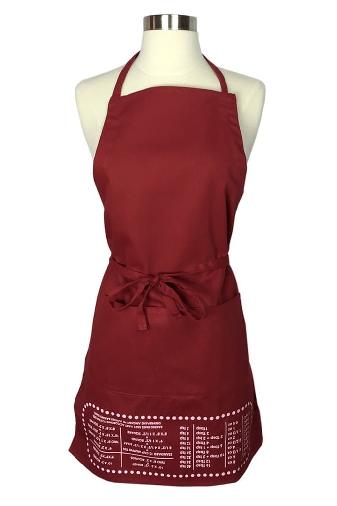 Red Cheat Sheet Apron