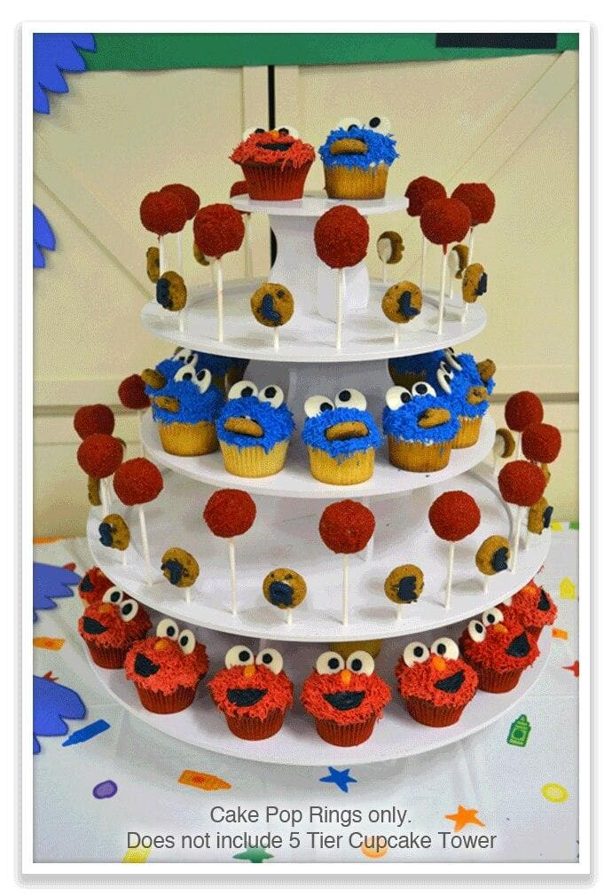 Sesame Street Theme PRO Cupcake Tower with Cake Pop Rings
