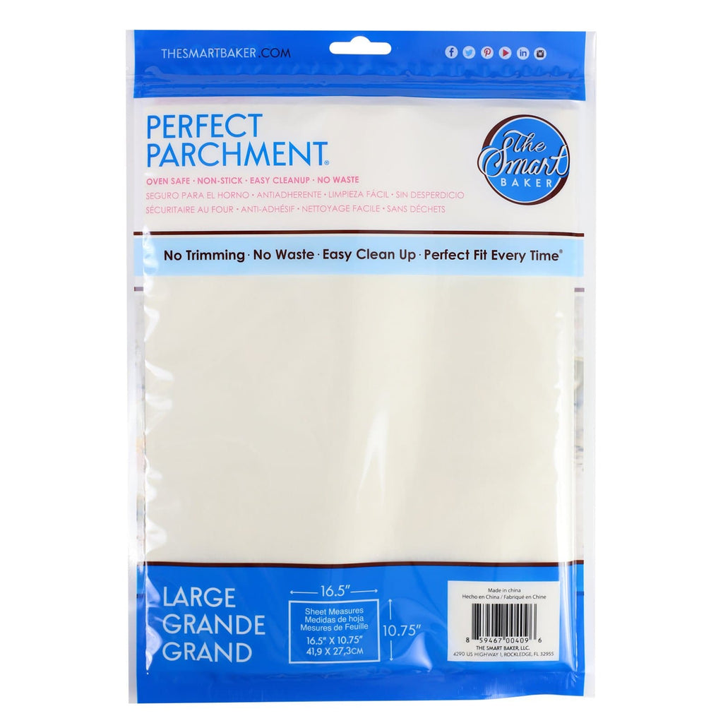 11x17 Large Pre-cut Parchment Sheets-24 pack-Package Back
