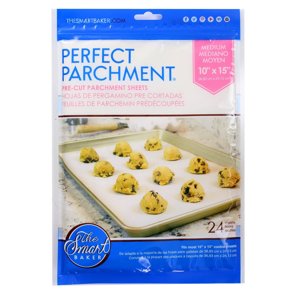 10x15 Medium Pre-cut Parchment Sheets-24 pack-Package Front