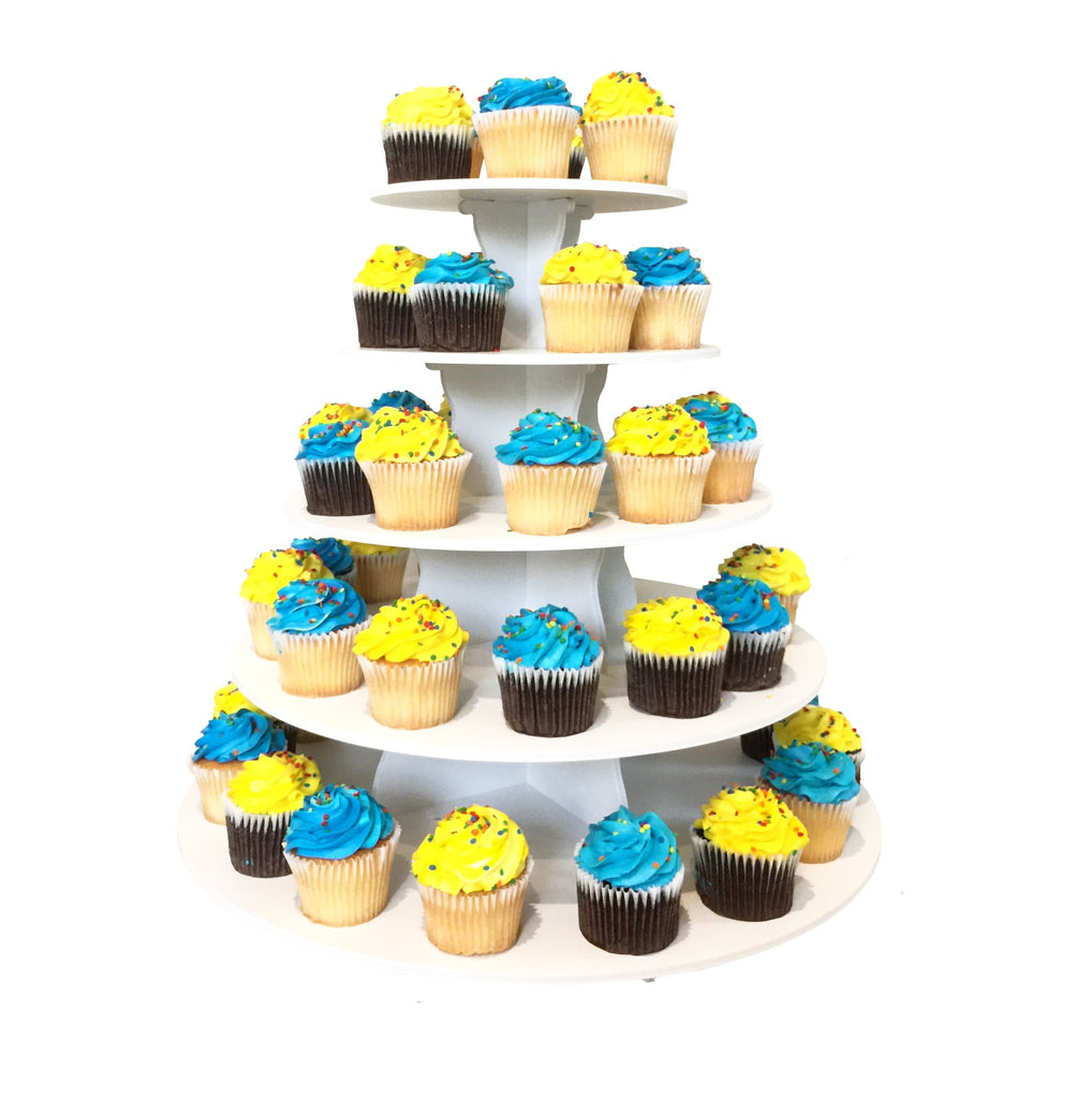 2 in 1 Round Cupcake Tower with Cupcakes