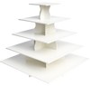 5 Tier Square PRO cupcake tower without cupcakes