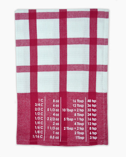 The Smart Baker Conversion Towel in Strawberry and White