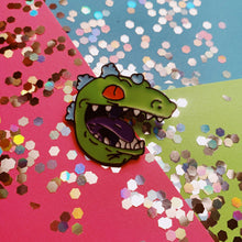 Load image into Gallery viewer, Reptar Head Enamel Pin - Only 90's Kids Know