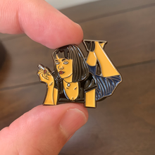 Load image into Gallery viewer, Mia Wallace Pulp Fiction Enamel Pin - Only 90's Kids Know