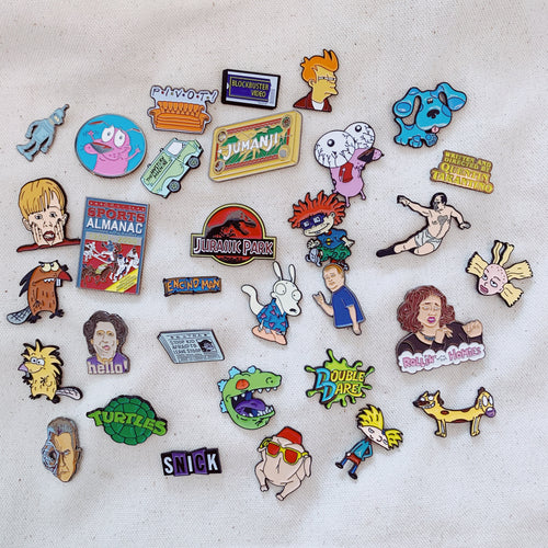 Monthly Subscription - 5 Enamel Pins Every Month - Get 8 For $9.99 Your First Month. - Only 90's Kids Know