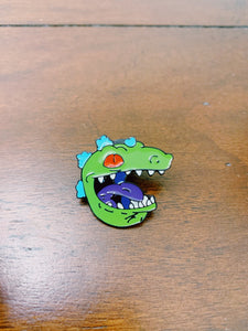 Reptar Head Enamel Pin - Only 90's Kids Know
