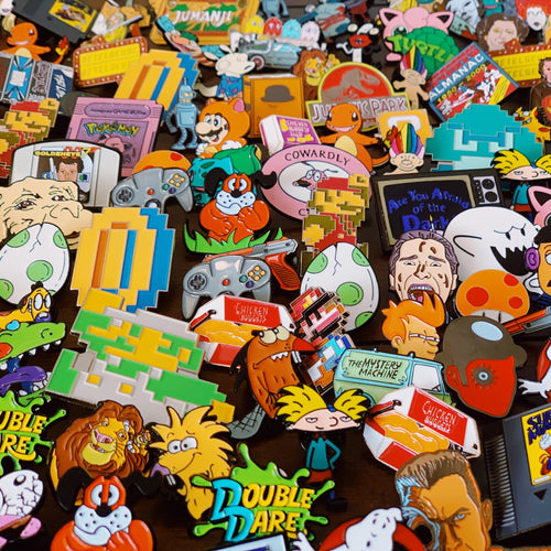 Monthly Subscription - 5 Enamel Pins Every Month - Get 7 For $9.99 Your First Month. - Only 90's Kids Know