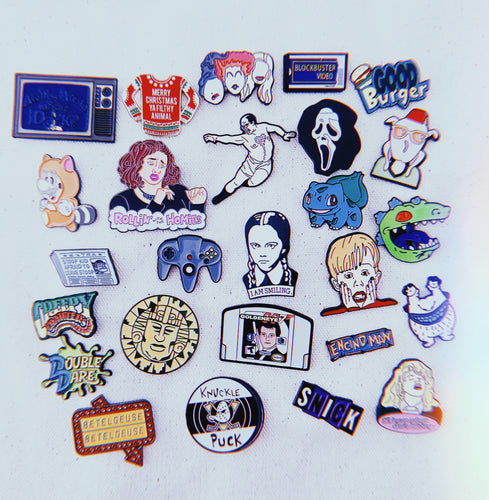 10 Random Enamel Pins - Only 90's Kids Know