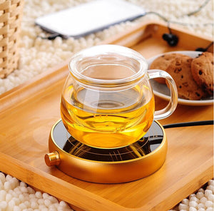Tea Infuser Mug with Strainer and Lid - 100% Glass