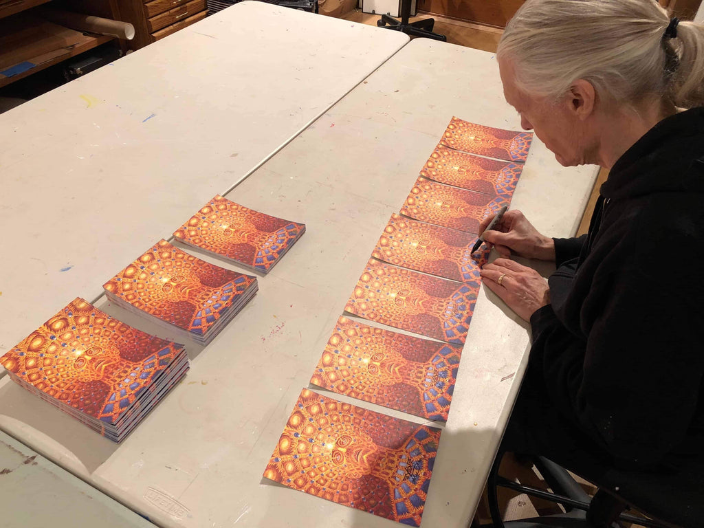 "Alex Grey ""Oversoul"" Signed Blotter Art"