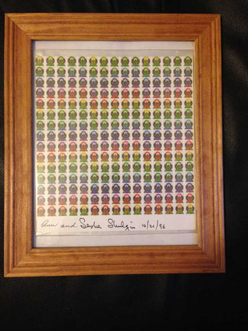 Ann And Sasha Shulgin Signed Blotter Art
