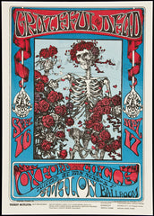 Grateful Dead Skull and Roses Stanley Mouse Alton Kelley Avalon Poster