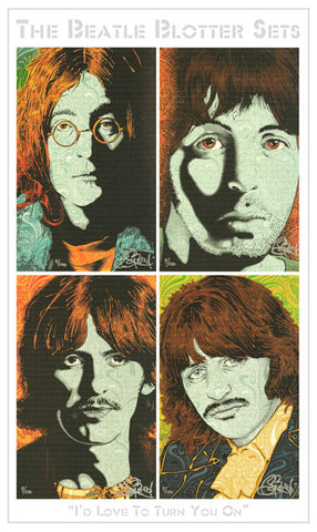 Chuck Sperry I'd Love To Turn You On Beatle Blotter Sets