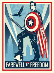 Shepard Fairey Stephen Colbert Farewell To Freedom