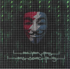 All Your Face Anonymous Guy Fawkes Occupy Blotter Art