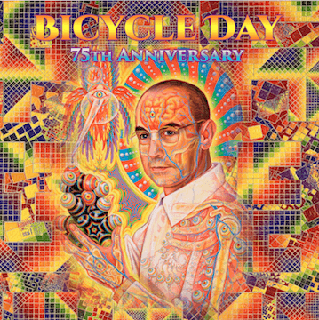 Alex and Allyson Grey Bicycle Day 75th Anniversary Blotter Art Shakedown Gallery