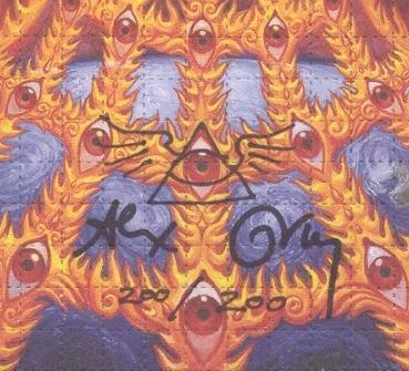 "Alex Grey ""Oversoul"" Signed Numbered Blotter Art"