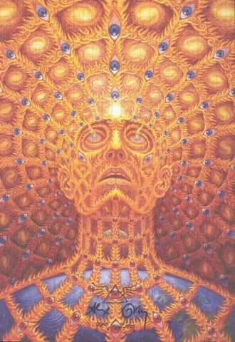 "Alex Grey ""Oversoul"" Signed Blotter and Numbered Blotter Art"