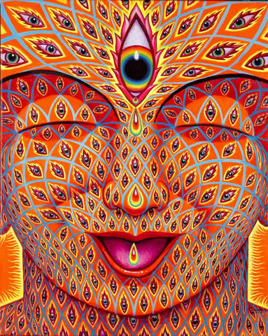 "Alex Grey Signed ""Tears of Joy"" Giclee Print - Shakedown Gallery"