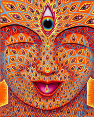 "Alex Grey Signed ""Tears of Joy"" Giclee Print"